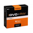 grossiste DVD & Blu-rays / CD: Vitesse Intenso  DVD + RW 4,7 Go 4x - 10pcs Slim Ca