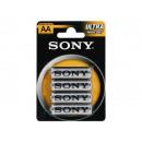 wholesale Batteries & Accumulators: Battery SONY  Zinc-Chloride Ultra R06 AA (4