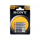 wholesale Batteries & Accumulators: Battery SONY  Zinc-Chloride Ultra R03 AAA (4