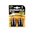 grossiste Batteries et piles: Batterie Duracell  Plus AA MN1500/LR6 (4 pcs