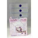 Großhandel Schmuck-Aufbewahrung: Schmuckbox  Transparent 3  Schubladen 12 x 10 ...