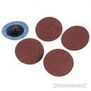 Fast-setting sanding discs 50 mm, 5 pcs
