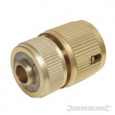 Brass quick connector with lock