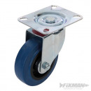 Rubber rotating wheel with brake