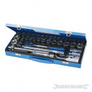 Set of metric socket wrenches and AF 1/2