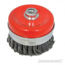 Braided steel cup brush