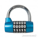 wholesale Garden & DIY store: Galvanized steel padlock with combination of 5