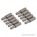 Hexagonal chrome-vanadium tips, 10 pieces