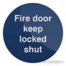 Warning sign - Close and lock the door