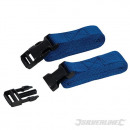 Mooring straps with quick release, 2 pieces