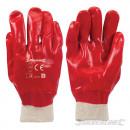 PVC gloves red