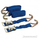 Cargo straps with hooks, 2 pieces