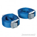 Lashing straps with buckle, 25 mm x 2.5 m, 2 pi