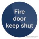 Warning sign - Keep the door open