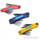 Coltelli con chiavi esagonali e T10 - T40, 3 piez