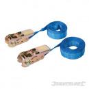 Lashing strap with ratchet lock, 2 pcs