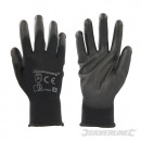 Gloves with black palm