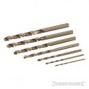 Cobalt drill bits, 7 pieces