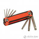 Penknife with hexagonal keys, 8 pieces