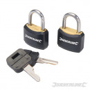 wholesale Garden & DIY store: Padlocks with one key lock, 2 pieces