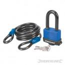 Cable de seguridad y candado resistente a la intem