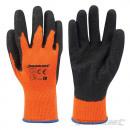Orange Handschuhe mit hoher Sichtbarkeit