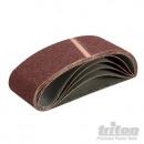 Bandes de papier abrasif 75 x 533 mm, 5 pièces