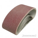 Sandpaper belts 75 x 457 mm, 5 pcs