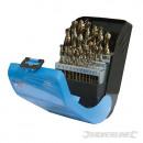 Cobalt drill bits, 25 pieces