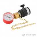 Pressure gauge for water pipes