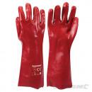 PVC-handschoenen rood