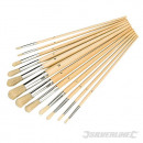 Oil brushes, 12 pieces
