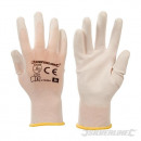 Gloves with white palm