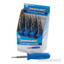 wholesale Decoration: Exhibitor box with 4 in 1 screwdrivers, 12 pi