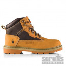 Nubuck Twister safety boots, brown
