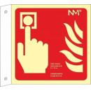 hurtownia Upominki & Artykuly papiernicze: BANDEROLA PUSHBUTTON PVC 1mm Klasa A 420X420mm