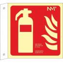 hurtownia Upominki & Artykuly papiernicze: GAŚNICA BANDEROLA PVC 1mm Klasa A 210X210mm