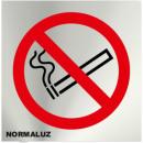 INOX SIGN NO TO SMOKE 120X120mm