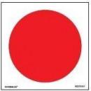 Rode ronde zelfklevende 100 mm diameter