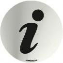 INOX SIGNAALINFORMATIE 70 mm DIAMETER