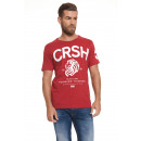 CROSSHATCH - Aichi T-shirt - Red dahlia