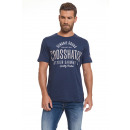 CROSSHATCH - Seton T-Shirt - Mood Indigo