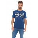 CROSSHATCH - Innercamo T-shirt - Estate blauw