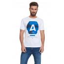 CROSSHATCH - T-shirt hexagonal - Blanc