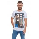 CROSSHATCH - Powerpoint T-shirt - Lichtgrijze merg