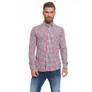 wholesale Shirts & Blouses: CROSSHATCH - Camisa Larix - Red check