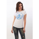 CUPID KILLER - Blaues Amor T-Shirt - Weiß
