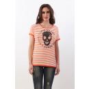 CUPID KILLER - Lust fürs Leben T-Shirt - Weiß / Or