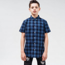 RIPSTOP - Klack Shirt - Navy & lt Blau