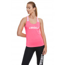 LONSDALE - T-shirt Lonsdale - Fuxia fluo / blanc